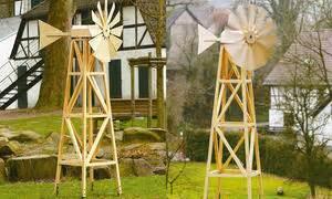 View Gartenwindmühlen Aus Beton Background