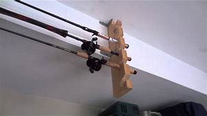 Diy Fishing Rod Holder From Materials Laying Around The