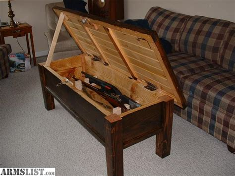 hidden compartment coffee table armslist for sale hidden compartment locking rifle