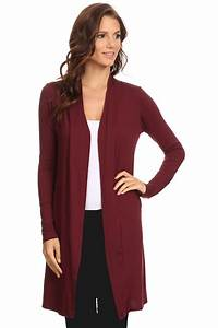 Women's Cardigan Long Open Front Small to 3XL Athleisure ...