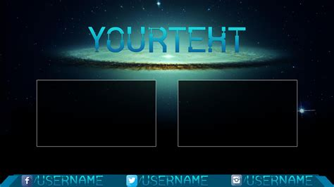 Outro Template Infinite Galaxy Cool Outro Template Outro Template 4