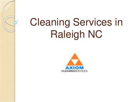 Cleaning Services In Raleigh Nc