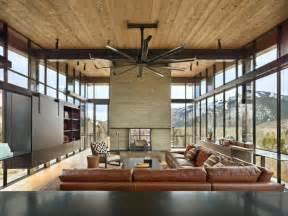 design ecksofa leder industrial style möbel accessoires in einem modernen haus im gebirge