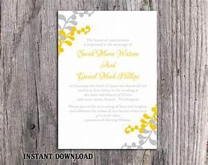 diy wedding invitation template editable word file With gold leaf wedding invitations diy