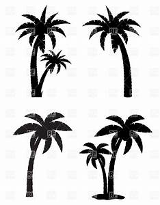 Black clipart coconut tree - Pencil and in color black ...