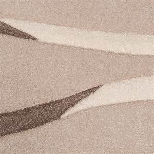 Tapis Salon Poil Ras : tapis moderne salon poils ras vagues design beige cr me brun soldes stock restant ~ Teatrodelosmanantiales.com Idées de Décoration