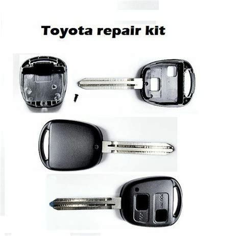 Toyota Yaris Replacement Button Remote Key Fob Case