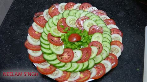 cucumber salad decoration easy salad decoration ideas 02 neelam ki recipe