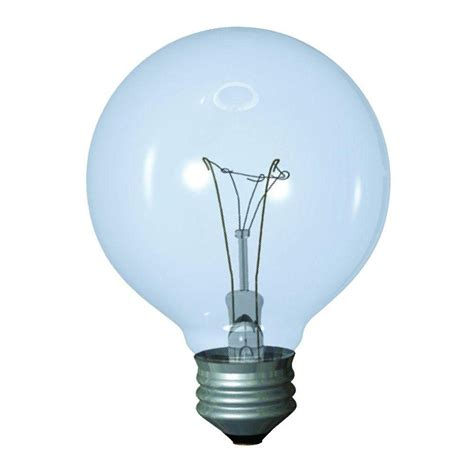globe light bulbs ge 25 watt incandescent g16 5 globe candelabra base clear