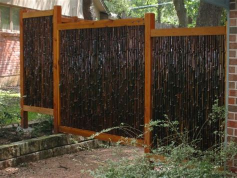 simple minimalist bamboo fence pictures gallery  ideas