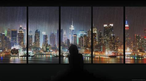 rain city image long wallpapers