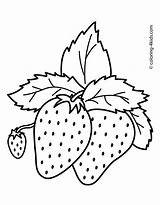 Strawberry Colouring Pages Mouth Picolour sketch template