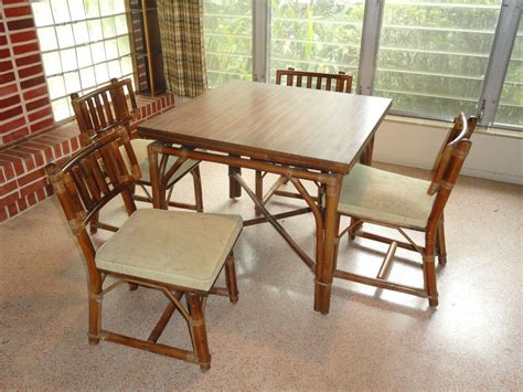 rattan kitchen furniture 60 s ficks reed rattan dining table chairs sliding