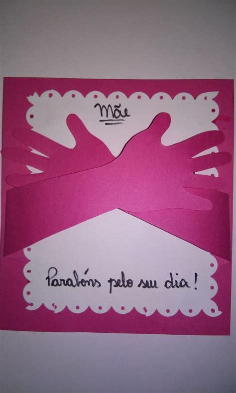 cartao em papel carmim cartoes  das maes