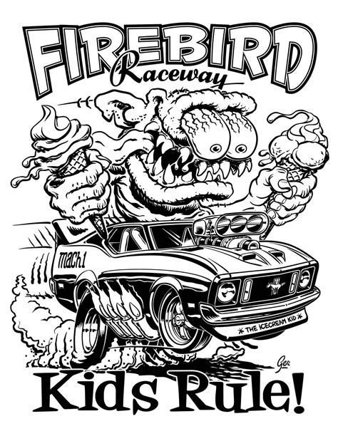 Rat Rod Coloring Pages Coloring Home