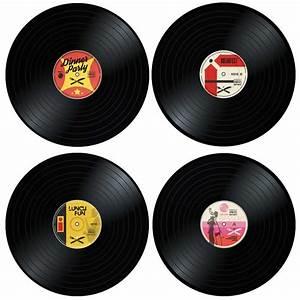 Set De Table Vinyl : set de table disque vinyle x4 super insolite ~ Teatrodelosmanantiales.com Idées de Décoration