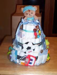 Cute Baby Boy Shower Diaper Cake