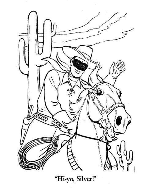 COLORING - Lone Ranger - Texas Ranger Hall of Fame and Museum