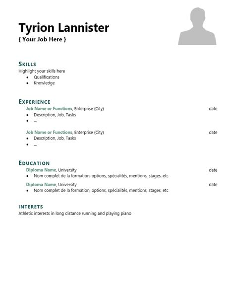 Skills For Cv by Skills List Cv Template