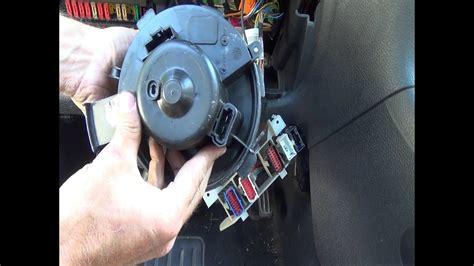 cambio del motor sopladorventilador de calefaccion