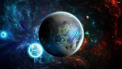 Wallpapers Planets Space Colorful Nebula Glowing Planet