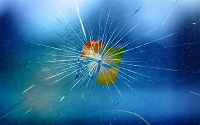 Screen Broken Wallpapers Cracked Windows Realistic Computer