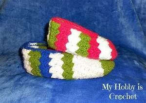 My Hobby Is Crochet  Tip Toe Slippers