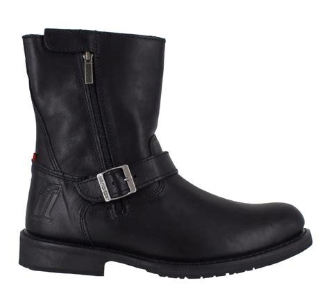 buckle motorcycle boots mens harley davidson karl leather side zip buckle