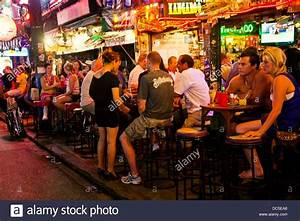 Nightlife Blanga Street Patong Phuket Thailand Stock Photo ...