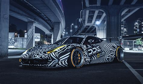 "Tire Stickers On Insane ""Zebra"" Ferrari 458 Italia"