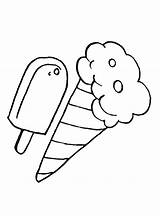 Ice Cream Coloring Icecream Pop Template Printable Votes Adult sketch template