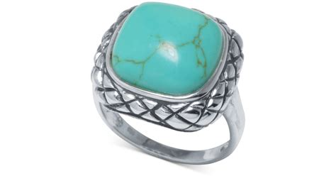 Macy's Manufactured Turquoise Scrolled Ring (1 Ct. T.w.) In Sterling Silver In Blue Online Jewelry Florida Exchange Lewes Delaware & Watches Store Wordpress Theme Nulled Manville Nj Frederick Md Route 22 Springfield Factory Negosyo