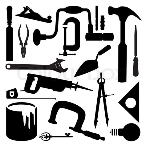 vector images silhouettes   kinds  tools