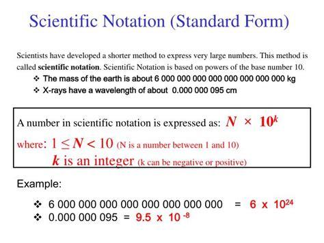 ppt scientific notation standard form powerpoint