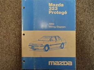 1992 Mazda 323 Protege Electrical Wiring Diagram Manual Factory Oem Book 92 X