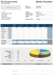 Weekly Timesheet Template Excel