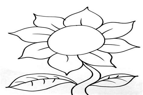 72 gambar mewarnai bunga untuk anak paud dan tk gambar