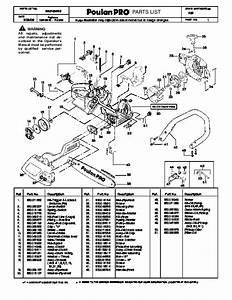 Poulan Pro 262 Chainsaw Parts List