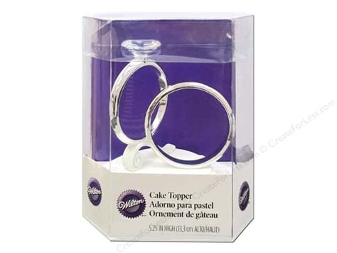 wilton cake topper 5 5 quot two ring createforless