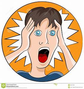 Shocked Facial Expression stock vector. Illustration of ...