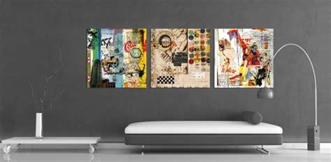 décoration canapé design d 39 intérieur stylé avec le tableau triptyque