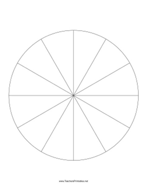 pie chart template  slices