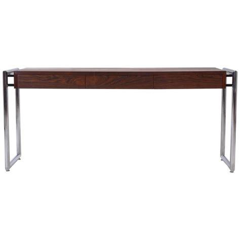 milo baughman rosewood desk rare sleek milo baughman rosewood and chrome desk