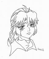 Sad Coloring Anime Pages Sheets Face Drawing Crying Colouring Line Printable Faces Puppy Getdrawings Freecoloringpages sketch template