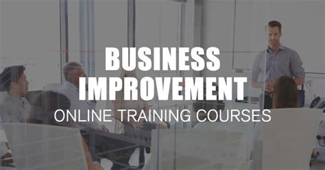 business improvement training courses  effective