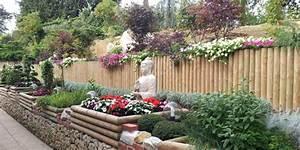 que planter sur un talus en pente berberis thunbergii With amenagement de jardin en pente 1 amenagement paysager talus pente classique grenoble