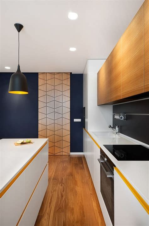 A Mid Century Inspired Apartment With Modern Geometric Accents by A Mid Century Inspired Apartment With Modern Geometric
