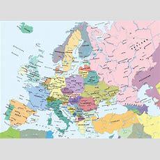 Pin Pin Europakarte Mit Hauptstaedten Politische Karte On