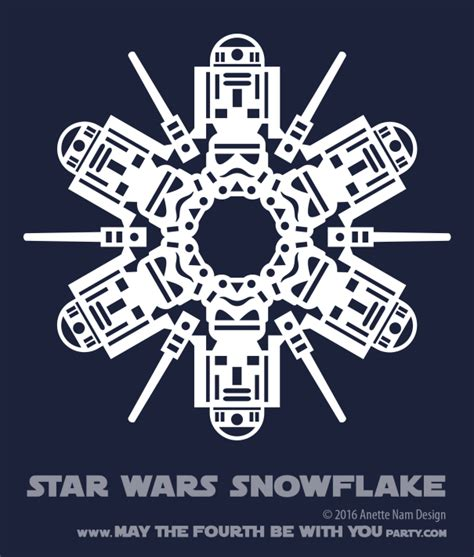 star wars snowflake wars snowflake pattern 6 downloadable may the fourth be with you