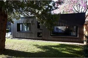facade maison bardage bois peint bardage bois With maison en bois peinte